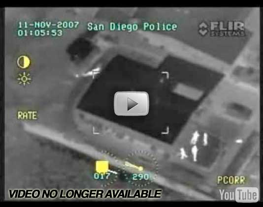 San Diego Police Chase Helicopter FLIR Infrared Video