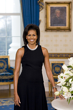Official White House Portrait for Michelle Obama released February 27, 2009