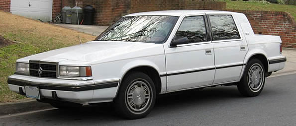 Dodge Dynasty file photo (unknown year) possibly similar to gray 1991 Dodge
