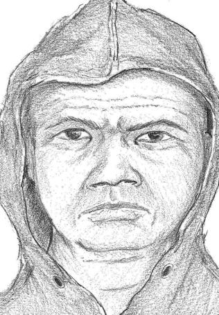 Composite sketch of Conover, NC quadruple homicide suspect.