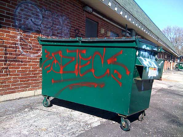 graffiti-dumpster