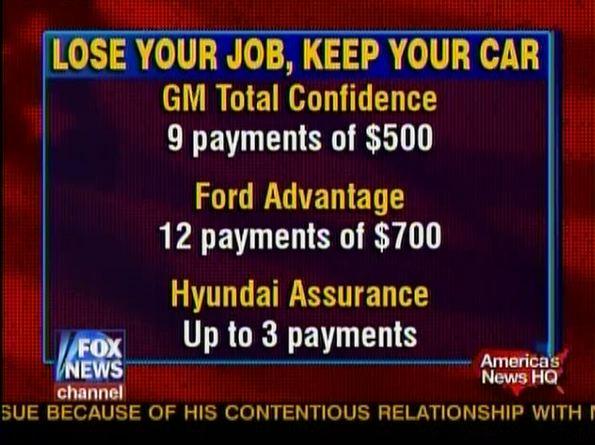 lose-job-keep-car Ford GM