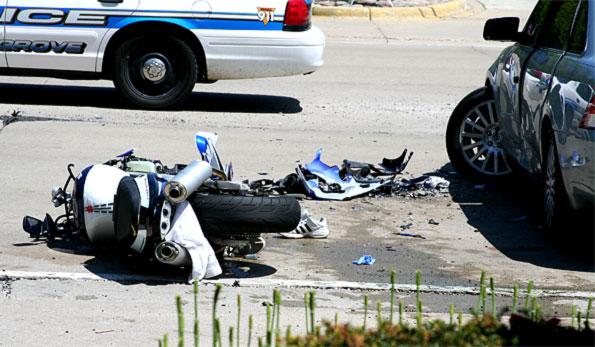 motorcycle vs car accident kills buffalo grove man on