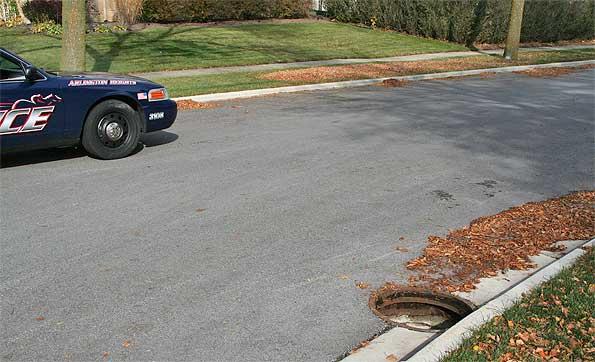 Drain cover (manhole cover) theft