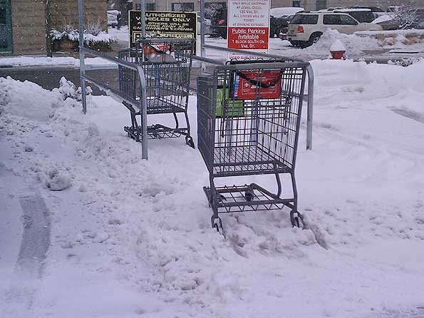 Snow Removal Compared At Dominick S Jewel Mariano S And