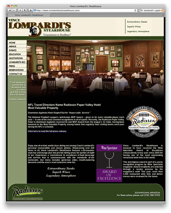 vincelombardisteakhouse.com