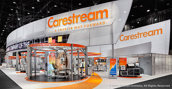 Carestream Exhibit by Catalyst Exhibits, Inc. at RSNA 2010.