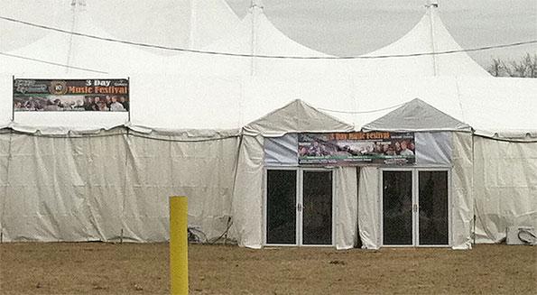 Peggy Kinnanes Tent Door Arlington Heights