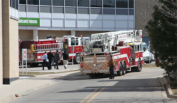 Vehicle Extrication Response at Parking Garage Northwest Community Hospital