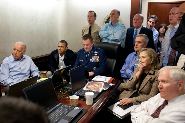 Situation room during UBL mission