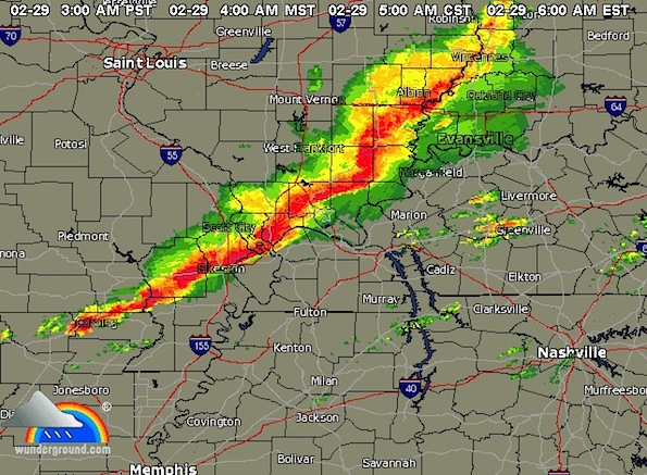 weather radar at approximate time of the harrisburg