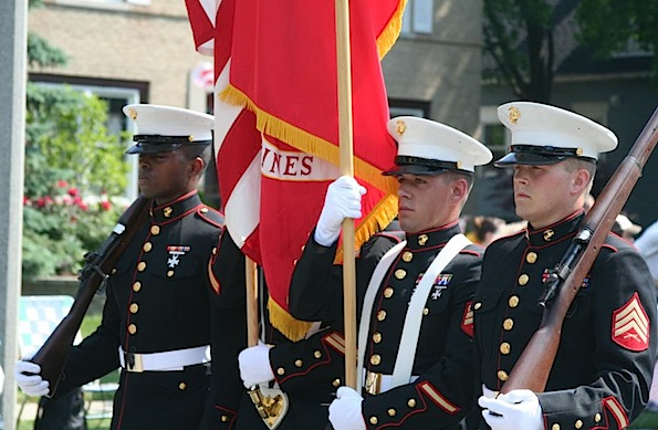 US Marines at Memorial Day parade