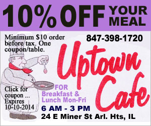Uptown Cafe Coupon Ad
