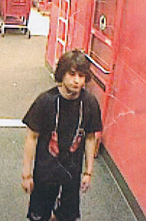Suspicious male offender at Target.