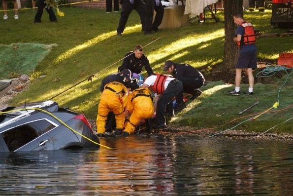 water rescue response to courtland dr near hersey high
