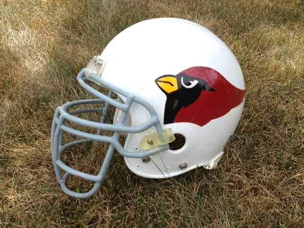 Cardinal Football Helmet