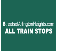 Streets of Arlington Heights Train Stops