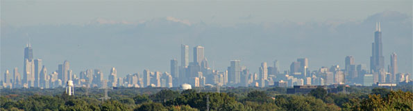 Chicago Skyline from Arlington Heights