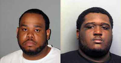 Brandon Brown (left) and Desmond Moore (police photo)