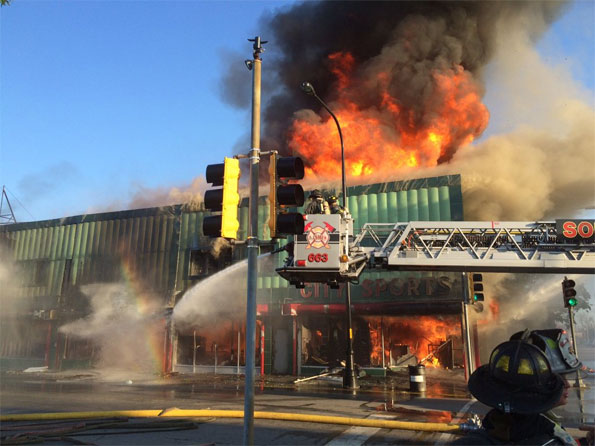 City Sport Harvey Plaza Fire