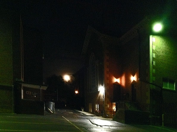 Super Moon in Arlington Heights viewed near St. James Church
