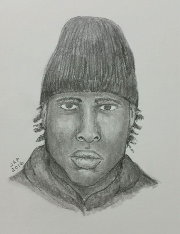 Armed vehicular hijacking suspect Arlington Heights Police police sketch.