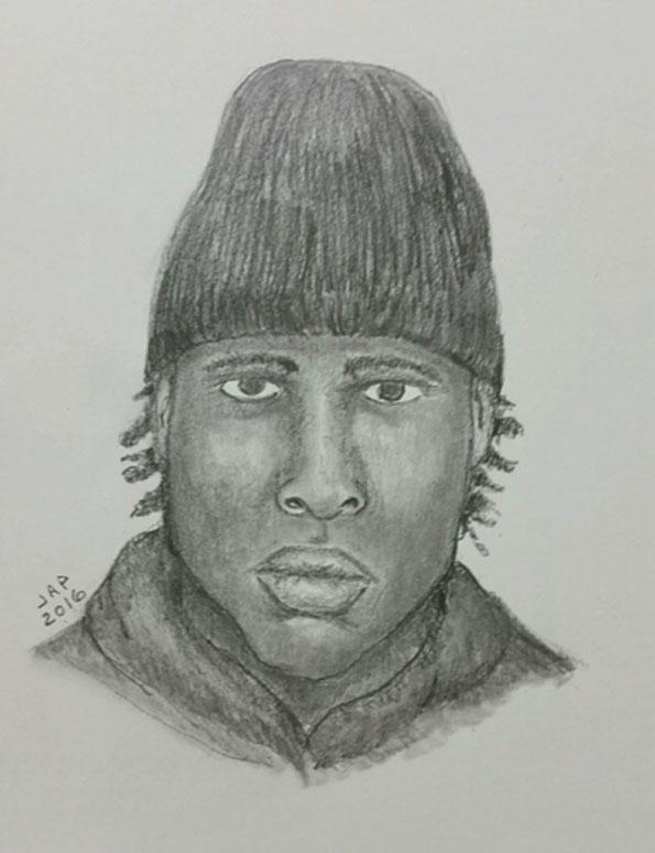 Armed vehicular hijacking suspect Arlington Heights Police police sketch.