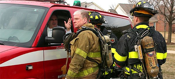FIREBLOG: Firefighters meet with AHFD Battalion One Chief