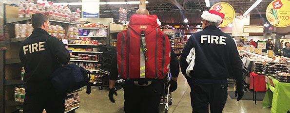 Paramedics at the grocery store.
