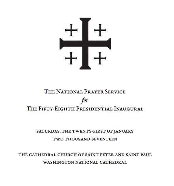 Washington National Cathedral Inaugural Prayer Service Cover