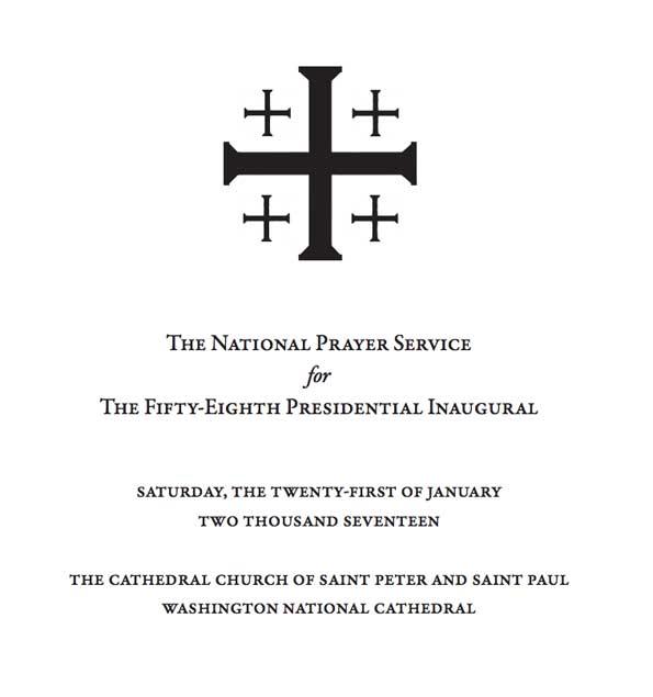 Washington National Cathedral Inaugural Prayer Service Cover