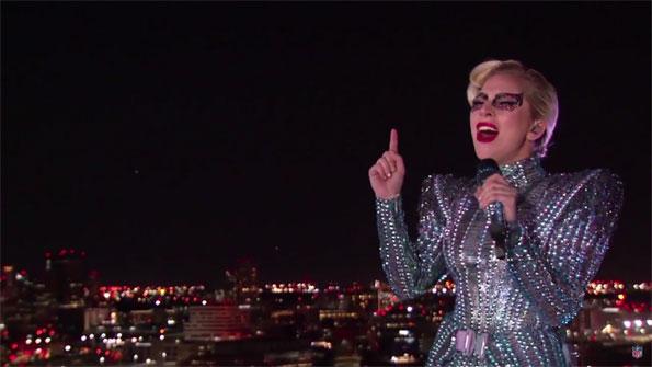 Lady Gaga Rooftop at NRG Stadium at Super Bowl 51