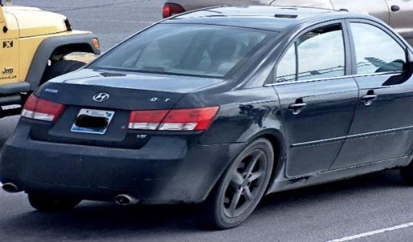 Hyundai Sonata suspect's getaway car