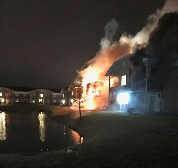 Willow Brook Apartments Fire Woodstock