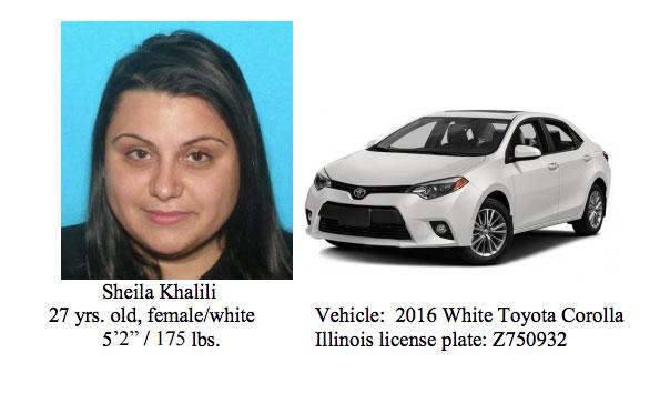 Missing Schaumburg: Sheila Khalili and Toyota Corolla