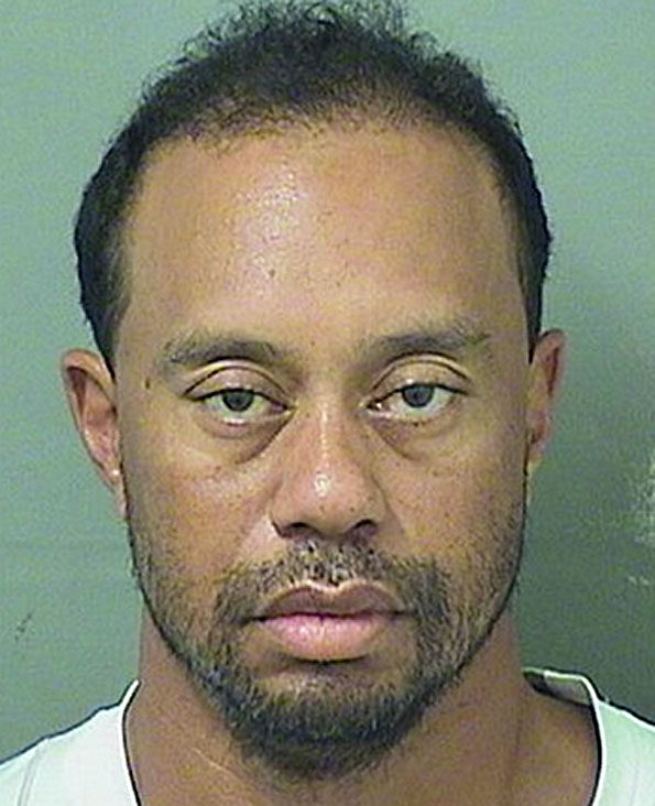 Tiger Woods Mugshot following arrest on suspicion of DUI