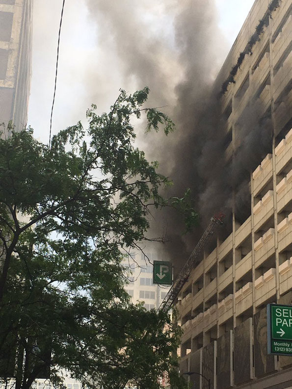 Adams & Wabash multiple car fires