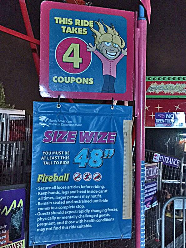 Fireball ride at Frontier Days Arlington Heights