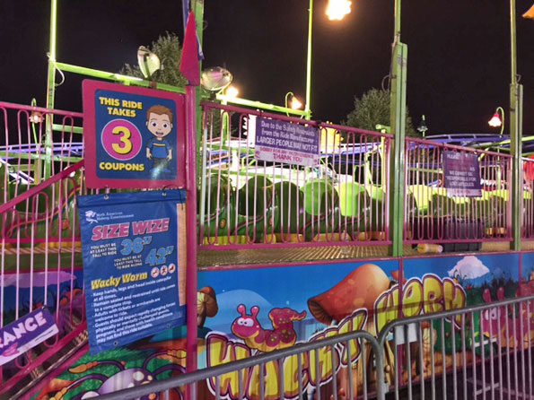 Wacky Worm carnival ride at Frontier Days Arlington Heights