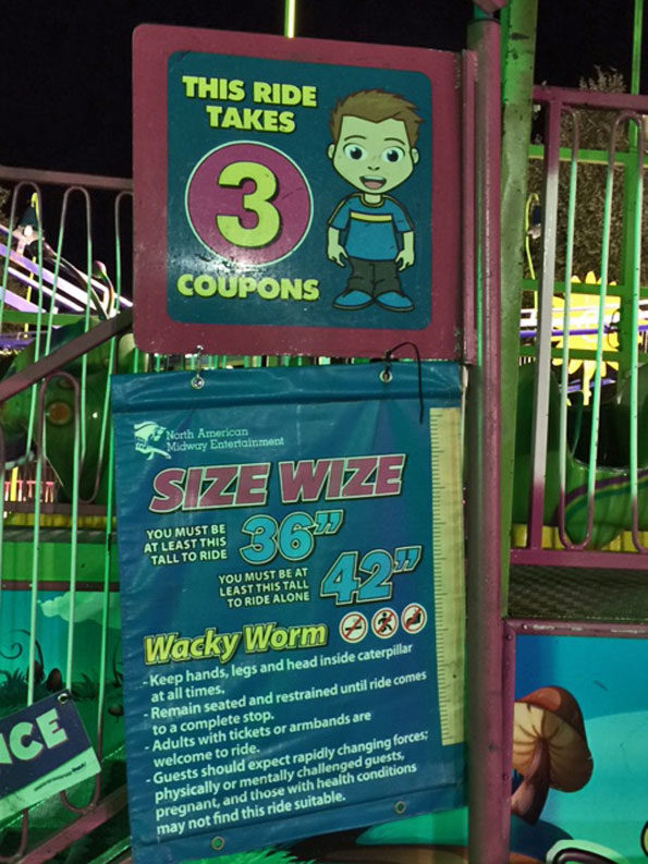 Wacky Worms Carnival Ride at Frontier Days Arlington Heights