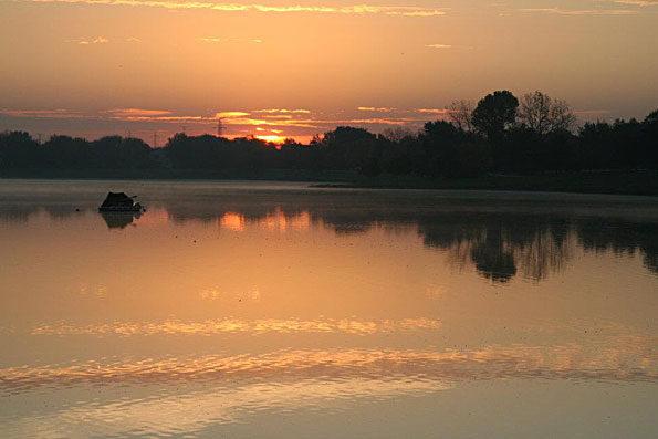 Lake Arlington Beginning Sunrise