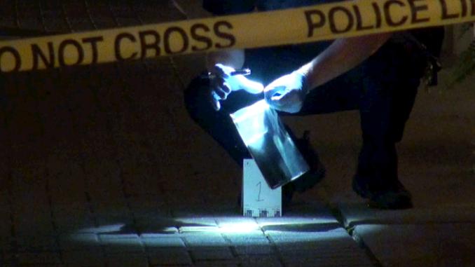 Stabbing scene on Campbell Street on Sunday, August 27, 2017