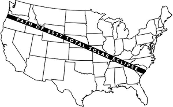 2017 Eclipse path over United States (NASA)