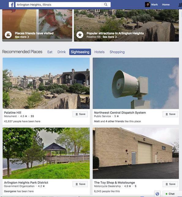 Facebook Arlington Heights Illinois sightseeing