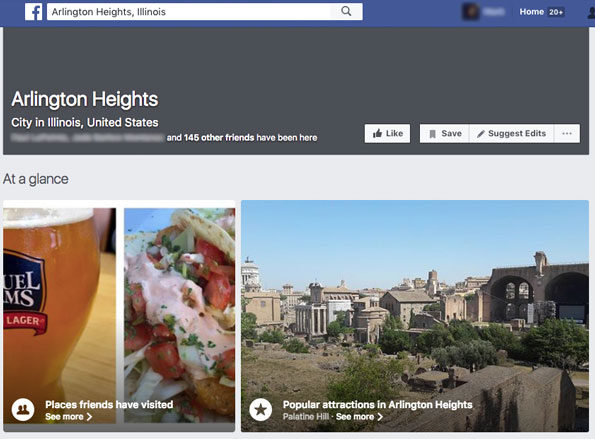 Facebook Arlington Heights Illinois sightseeing