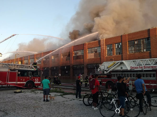 Old Zenith Factory Fire on Dickens Ave Chicago