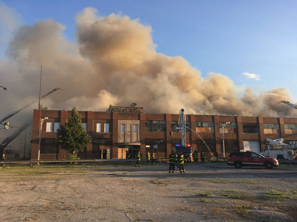Old Zenith Plant Fire on Dickens Ave Chicago