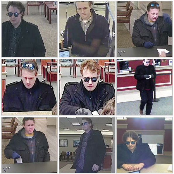 Serial bank robbery suspect Chicagoland