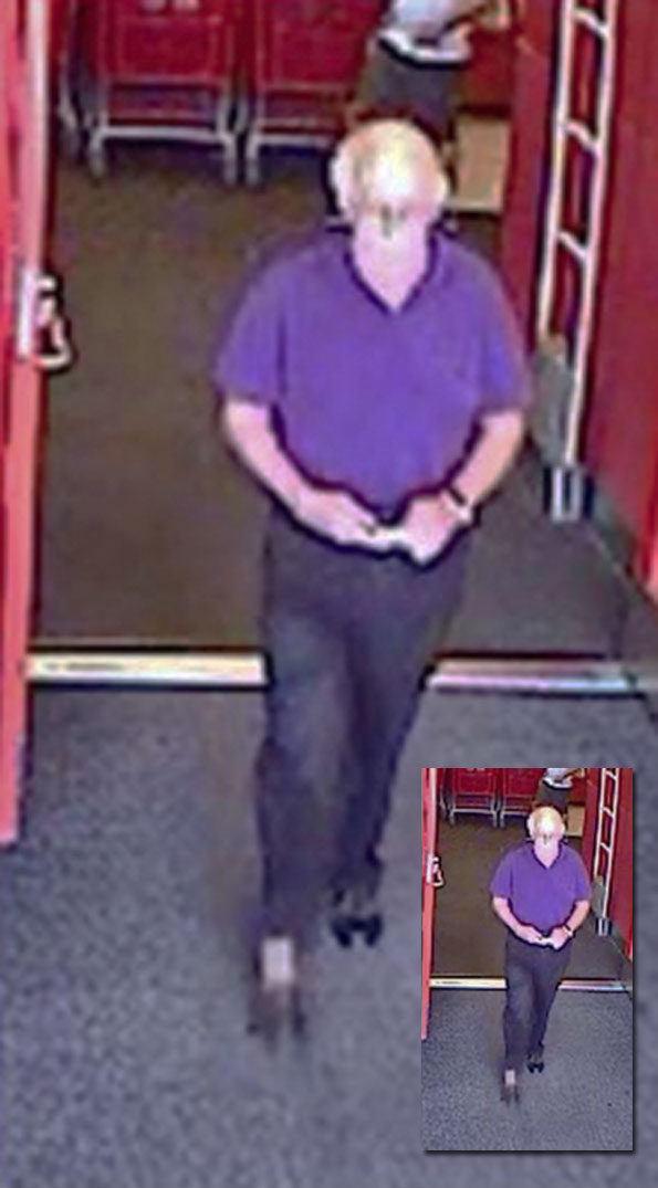 Target photo disorderly conduct suspect Arlington Heights