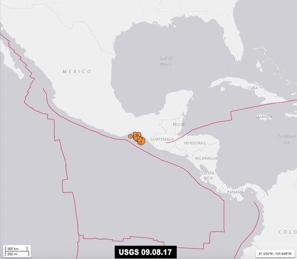 Mexico Earthquake USGS September 8 2017